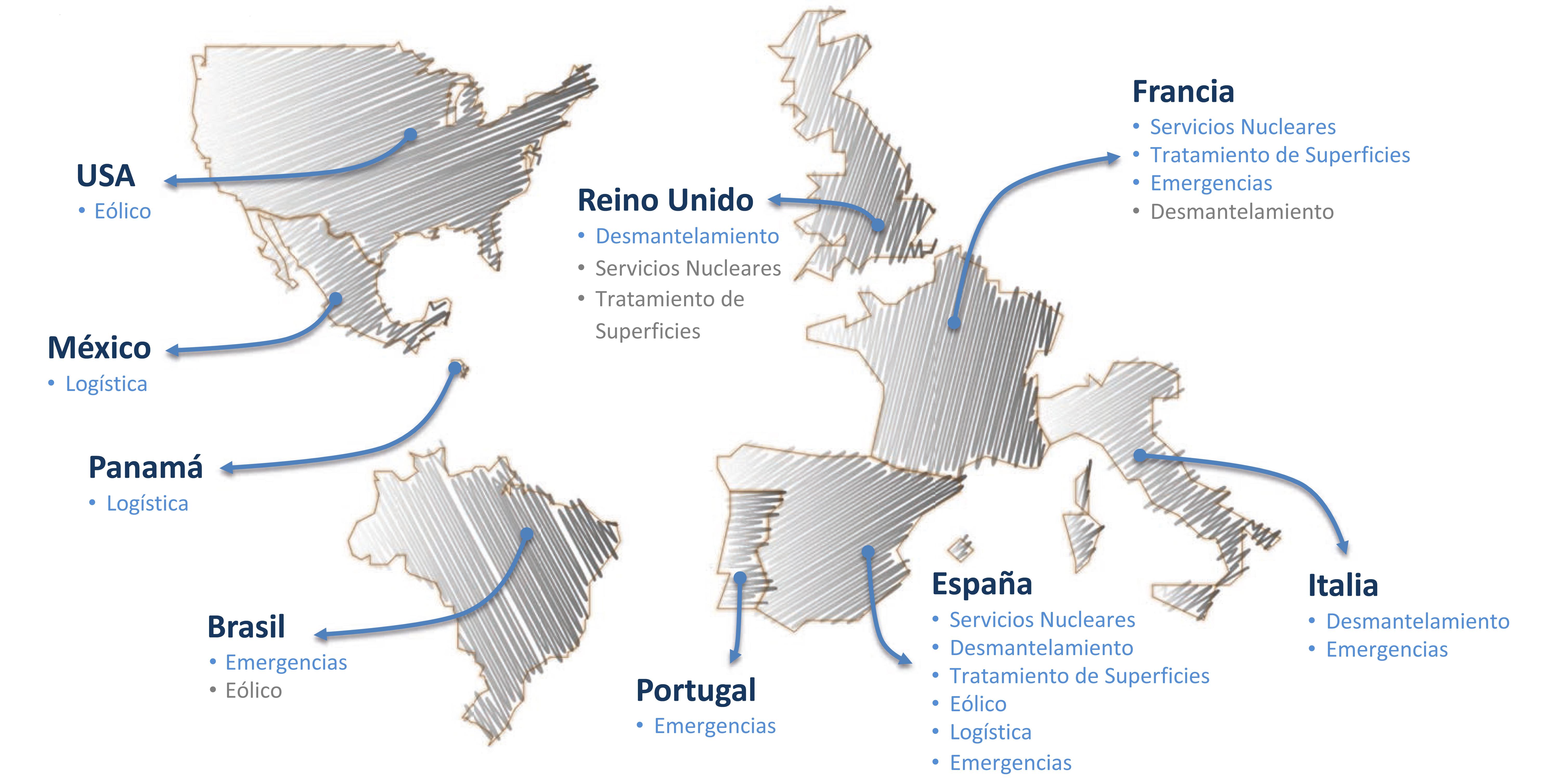Mapa Presencia Global GDES