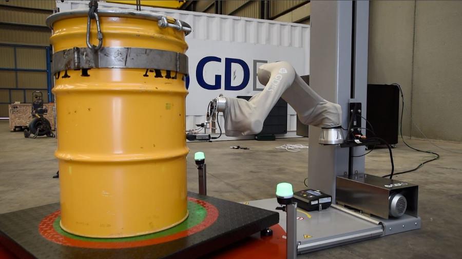 GDES sistema de caracterizacion bidones residuos radiologicos